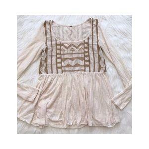 NEW w/TAGS! Free People • BOHO Embroidery Tunic